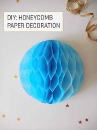 How To Make Paper Balls For Decoration Custom How To Make An Easy Honeycomb Paper Decoration These Would Be