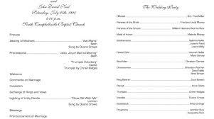 sample wedding program wording sample church program 5 best photos of sample souvenir booklet