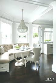Engaging White Breakfast Table And Chairs At Nice Round Extendable