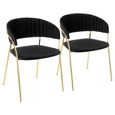 Black and gold furniture Rococo Lumisource Tania Gold With Black Velvet Arm Chair set Of 2 Debkaco Lumisource Tania Gold With Black Velvet Arm Chair set Of 2ch