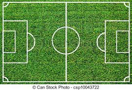 Soccer field with artificial grass clip art Search Illustration