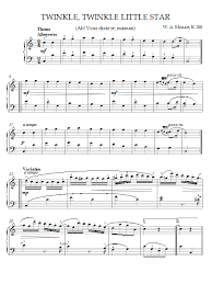 Twinkle Twinkle Little Star Recorder Finger Chart Wolfgang Amadeus Mozart Twinkle Twinkle Little Star Ah Vous Dirai Je Maman Theme Sheet Music Notes Chords Download Printable Piano Sku