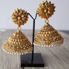 Artificial Jhumka Designs With Price Stunning Light Weight Antique Gold Jhumkas Now Available On
