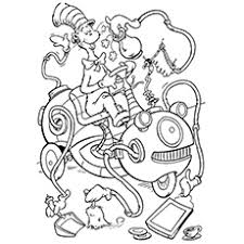 Small Picture Printable Coloring Pages Of The Cat In Hat Coloring Pages Ideas