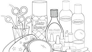 Makeup Coloring Pages To Print Rokkas