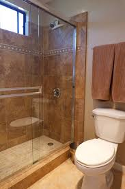 small corner wet room with brown marble floors and wall decoration also diy shelves towels how