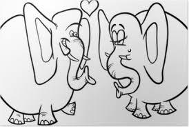 Poster Hochzeit Karte Mit Verliebten Paar Elefanten Pixers Wir