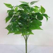 7 Branches Green Imitation Fern Plastic <b>Artificial Grass</b> Leaves <b>Plant</b> ...
