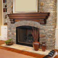 gas fireplace without mantle