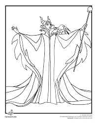 Small Picture Maleficent Coloring Page Woo Jr Kids Activities