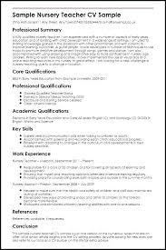Resume Samples For Teachers Best of Resume Samples Preschool Resume Sample Sample Nursery Teacher Resume