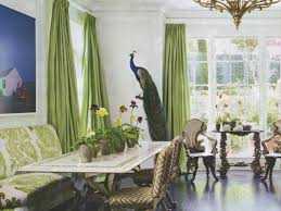 Living Room Design With Peacock Home Decor