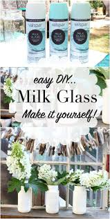 make your own milk glass use free mason jars and valspar milk glass paint details