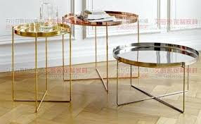 full size of gold brass round side table rose post modern stainless steel small coffee kitchen
