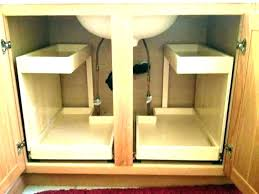 I Trash Can Roll Out For Cabinets Kitchen  Cabinet Under Sink Pull