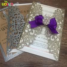 Us 24 25 25pc Laser Cut Party Glitter Light Gold Birthday Invitations Card Glitter Silver Wedding Invitation Card In Cards Invitations From Home