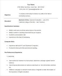 Resume Format For Students