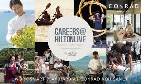 live careers conrad koh samui joins hilton worldwide largest global career event