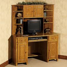 office desk with hutch storage. Desk Hutch Solid Wood Corner Computer With Tall Small Drawers Office Storage H