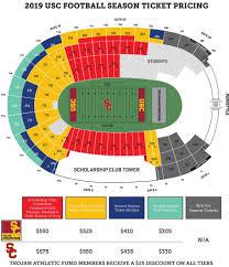 Incredible Usc Football Seating Chart Seating Chart