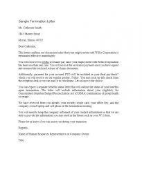 Letter Of Dismissal Template Sample Termination Letter Template Business 26