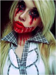 zombie school girl face paint ideas