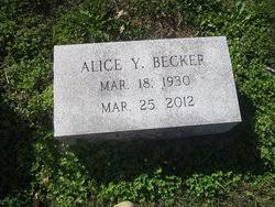 Alice Y. Elliott Becker (1930-2012) - Find A Grave Memorial