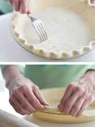 ing the pastry and lining pastry with foil
