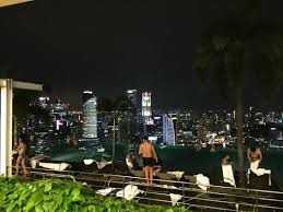 Night time at the infinity pool Picture of Marina Bay Sands