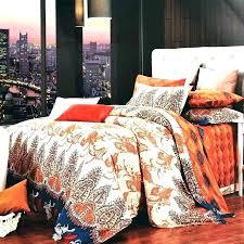 grey and orange comforter beige set bright sets blue