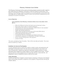 Resume Objective Pharmacy Technician Resume Online Builder