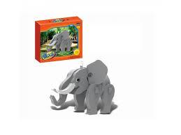 <b>Block wild animal Конструктор</b> мягкий, Слон, 17 деталей | lichnyj ...