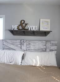 diy headboard and wall mounted shelf
