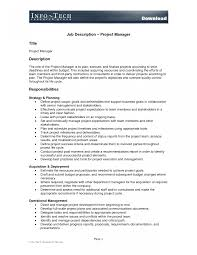 It Project Manager Job Description It Project Manager Sample Job Description Prince24 Template Pictures 2