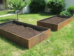 garden metal planter boxes home decorations insight raiseds for gardening