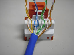 the trench how to punch down cat5e cat6 keystone jacks once you have the wires laced in correctly set your keystone jack in a jack palm tool if you don t have one of these available you can punch the jack