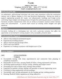 Civil Engineer Cv Template - Beni.algebra-Inc.co