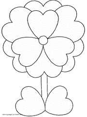 Small Picture Valentines Day cards coloring pages