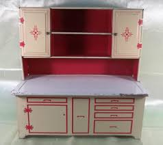 Hoosier Kitchen Cabinet 1950s Wolverine Hoosier Tin Kitchen Toy Cabinet