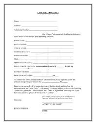 Catering Contract Worksheet Or 80 Best Cake Business Order Form ...