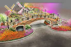 renderings of the 2017 philadelphia flower show entrance garden revealed