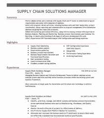 Supply Chain Manager Resume Example Surna Broomfield Colorado
