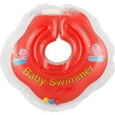 <b>Круг на шею для</b> купания с погремушкой Baby Swimmer красный