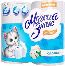 <b>Туалетная бумага Мягкий знак</b> Comfort, двухслойная, цвет: белый ...