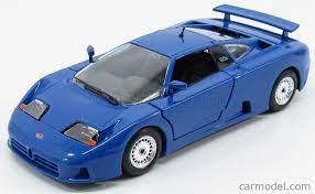 Dokładne odwzorowanie, metalowa karoseria, malowana prawdziwym lakierem samochodowym, wprawi w zachwyt każdego. Burago Bu22025bl Scale 1 24 Bugatti Eb110 1991 Bluette