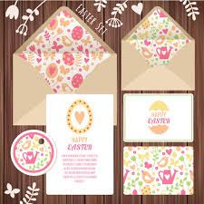 easter stationery easter stationery design vector free download