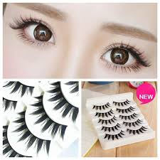 details about new 5 pairs natural anese serious false eyelashes long thick extension makeup