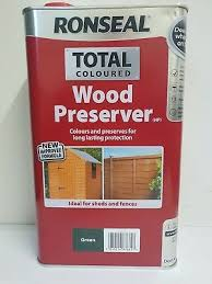 Ronseal Varnish Colour Chart Ronseal Total Coloured Wood Preserver Green 5 Litre