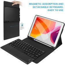 Dành Cho iPad 7th Thế Hệ 2019 Kèm Bàn Di Chuột Bàn Phím Bút Giá Đỡ Máy Tính  Bảng Từ Bàn Phím Có Thể Tháo Rời Cho iPad 10.2 Bàn Phím