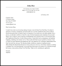 Cover Letter Business Professional Business Owner Cover Letter Sample Writing Guide